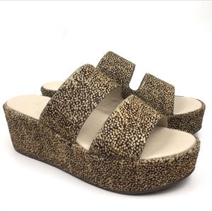 Matisse Struttin platform sandal animal print